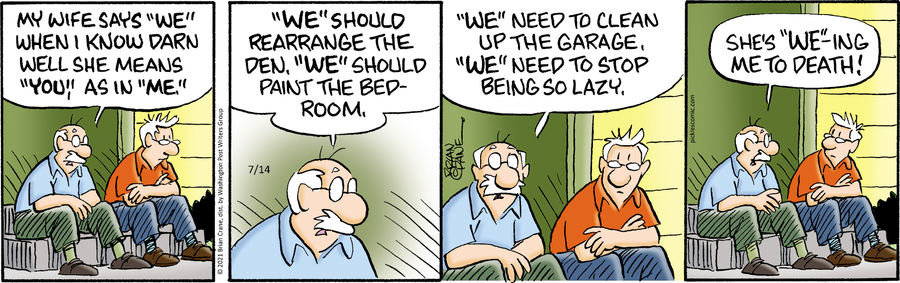 Pickles Comic Strip for July 14, 2021
