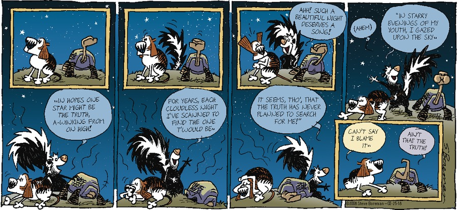 Little Dog Lost for Feb 25, 2018 Comic Strip