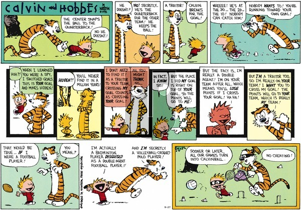 Calvin and Hobbes on Sunday September 27, 2015 Comic Strip