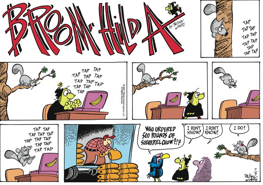 Broom Hilda by Russell Myers on Sun, 04 Jul 2021