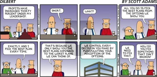Dilbert on Sunday December 2, 2018 Comic Strip
