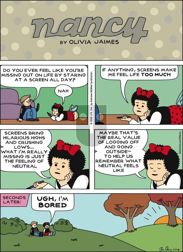 Nancy - Sunday November 4, 2018 Comic Strip