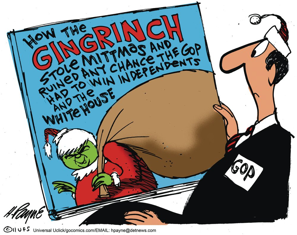 How the Gingrich stole Mittmas and ruined any chance the GOP had to win independents white house.