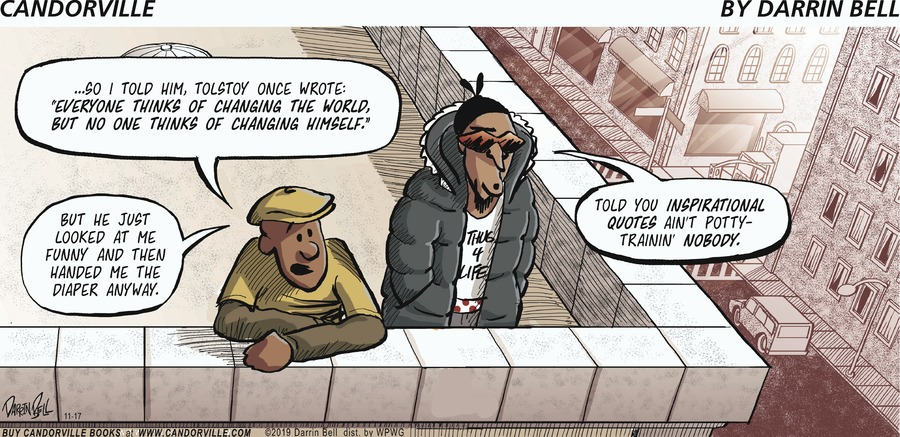 Candorville Comic Strip for November 17, 2019