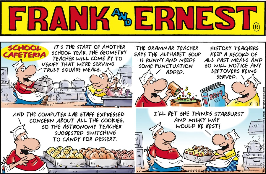 Frank and Ernest Comic Strip for August 25, 2019