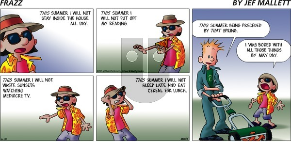 Frazz on Sunday June 21, 2020 Comic Strip