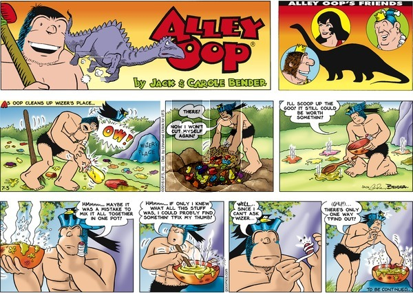 Alley Oop on Sunday July 3, 2016 Comic Strip