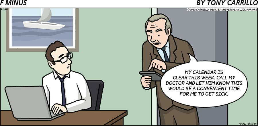 F Minus Comic Strip for November 18, 2012
