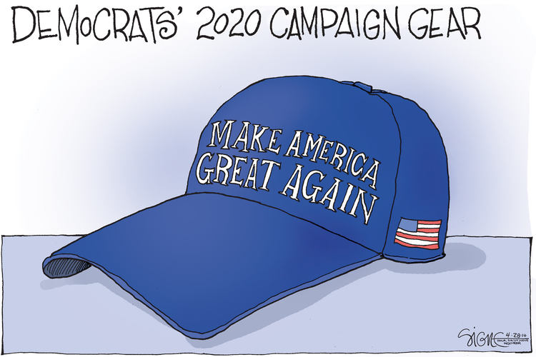 Signe Wilkinson by Signe Wilkinson for April 28, 2019