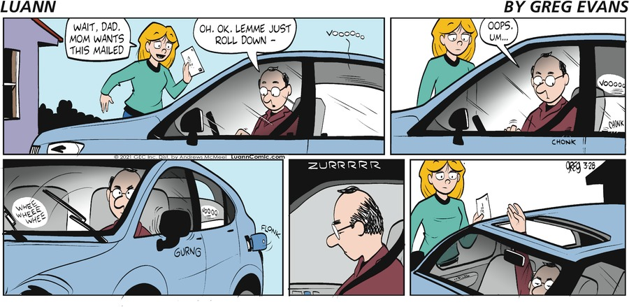 Luann Comic Strip for March 28, 2021