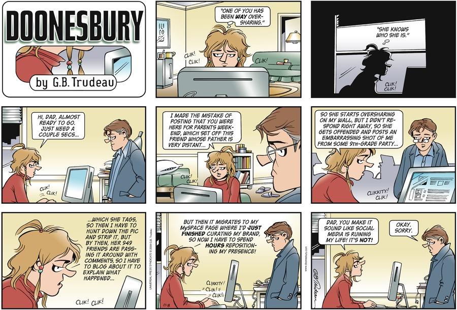 Doonesbury Comic Strip for November 08, 2009