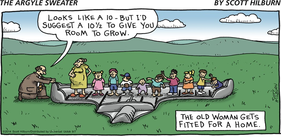 The Argyle Sweater Comic Strip for September 07, 2014