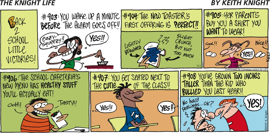 The Knight Life Comic Strip for September 02, 2012