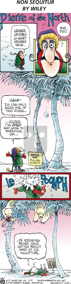 Non Sequitur on February 19, 2017 Comic Strip