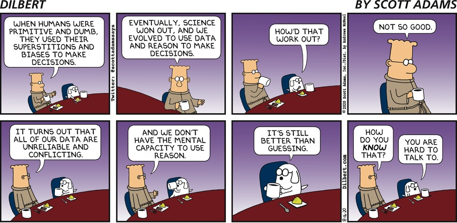 Humans Making Decisions - Dilbert by Scott Adams