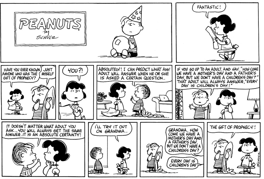 Peanuts Comic Strip for August 29, 1965