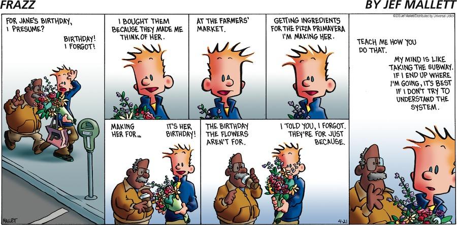 Frazz Comic Strip for April 21, 2013