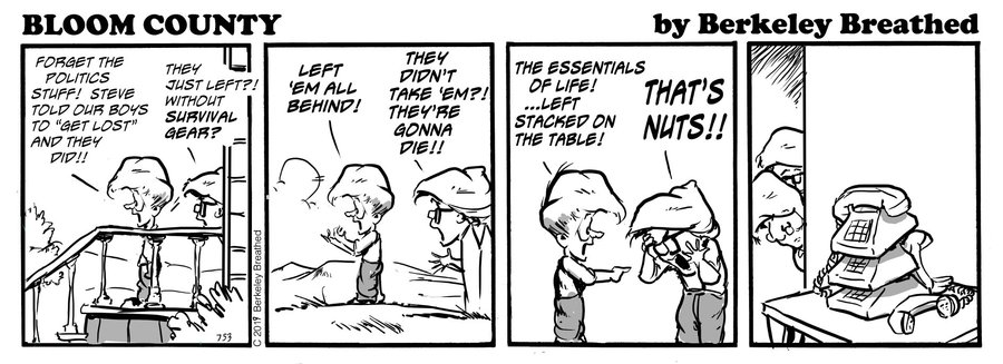 Bloom County 2018 by Berkeley Breathed for March 28, 2019