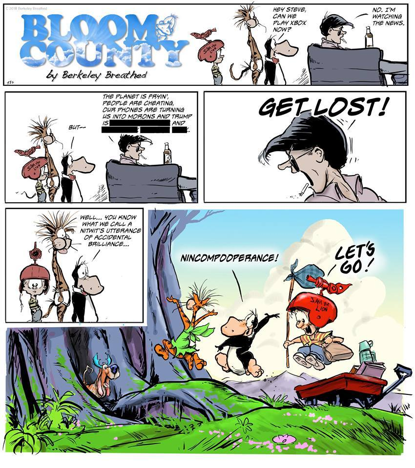 Bloom County 2018 by Berkeley Breathed for March 23, 2019