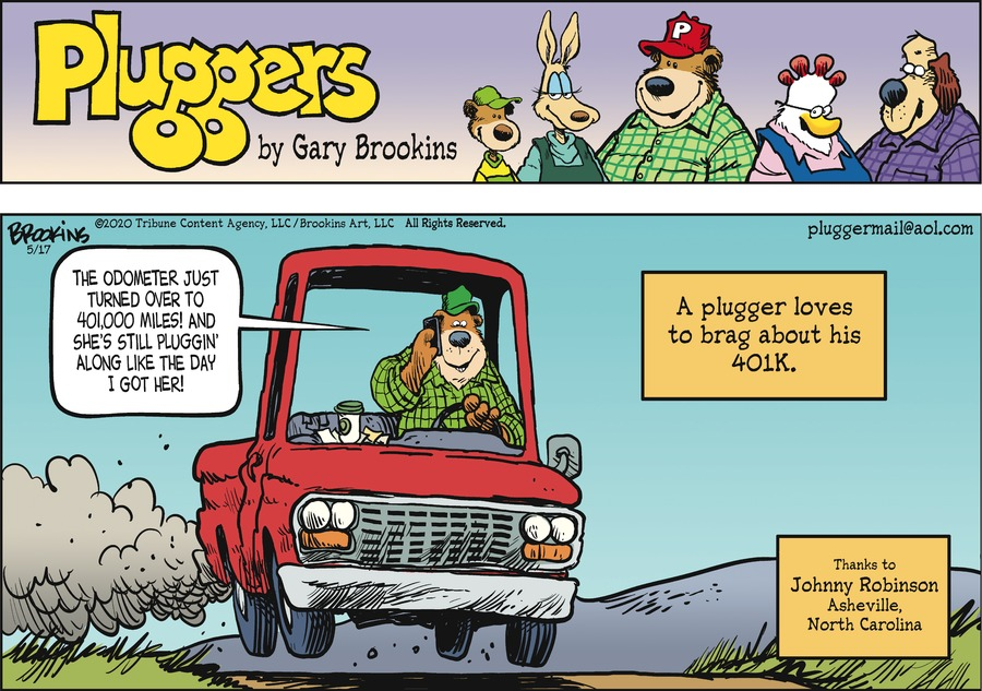 Pluggers Comic Strip for May 17, 2020