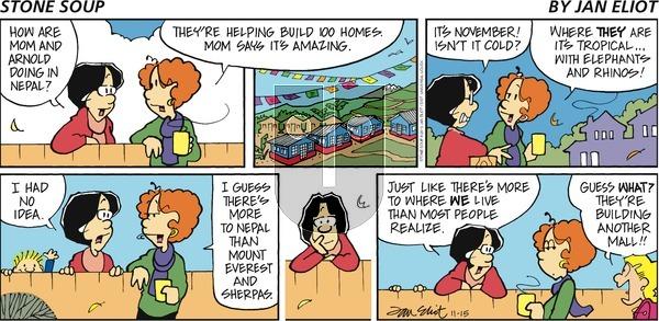 Stone Soup on Sunday November 15, 2015 Comic Strip