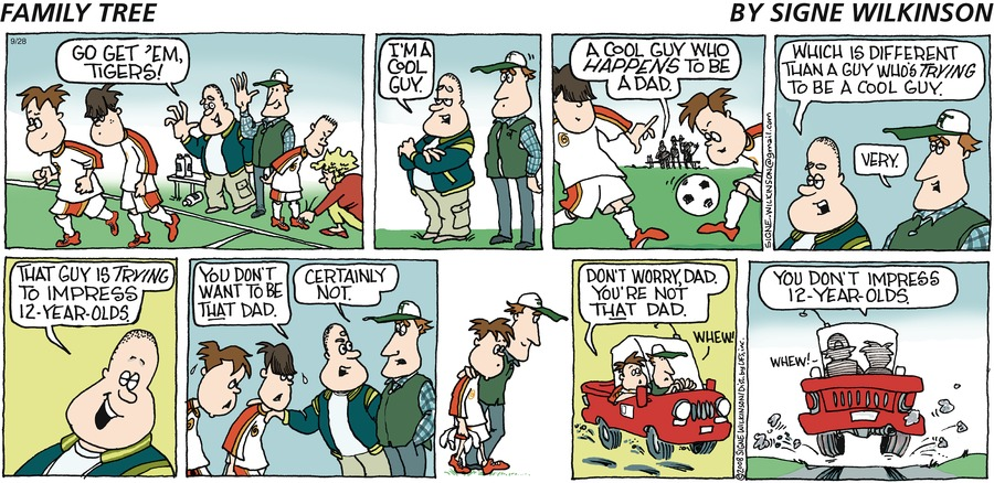 Family Tree Comic Strip for September 28, 2008