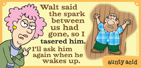 Walt said the spark between us had gone, so I tasered him. I'll ask him again when he wakes up.