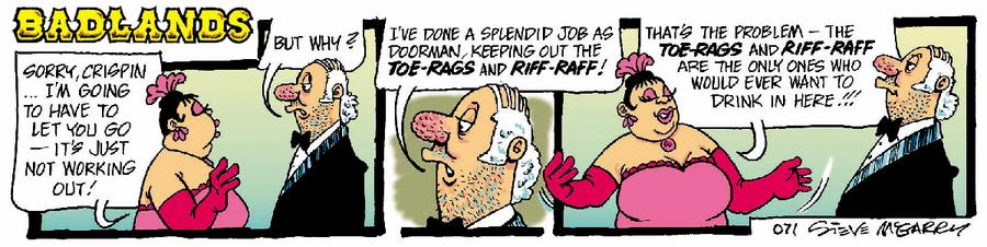 Badlands Comic Strip for February 16, 2020