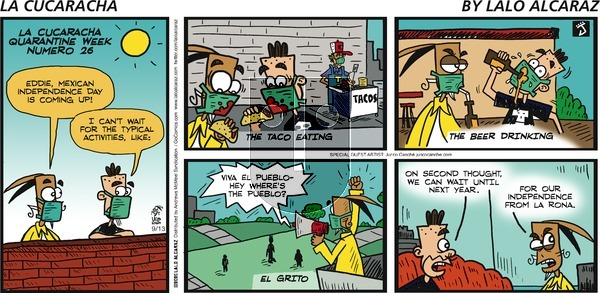 La Cucaracha on Sunday September 13, 2020 Comic Strip