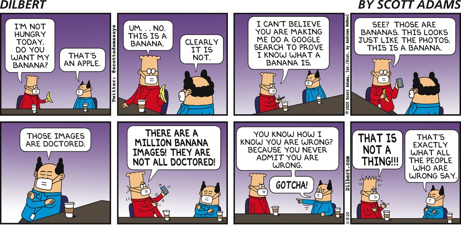 Banana Is Not An Apple - Dilbert by Scott Adams