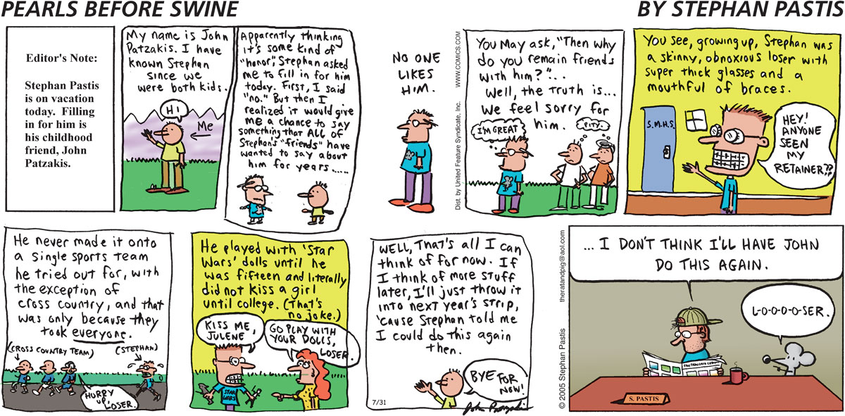 Pearls Before Swine Comic Strip for July 31, 2005