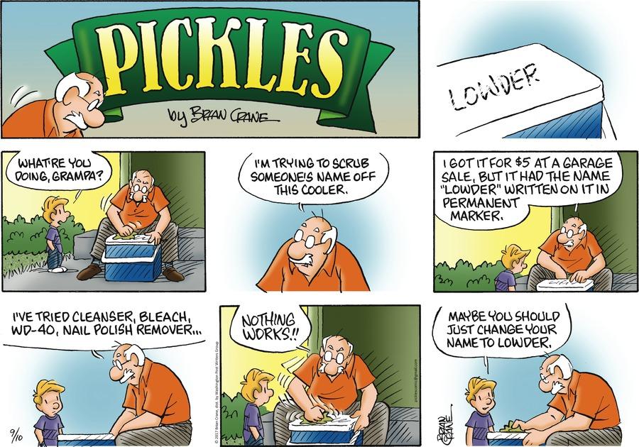 Pickles Comic Strip for September 10, 2017