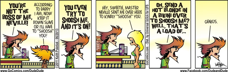 Dude and Dude for Jun 20, 2013 Comic Strip
