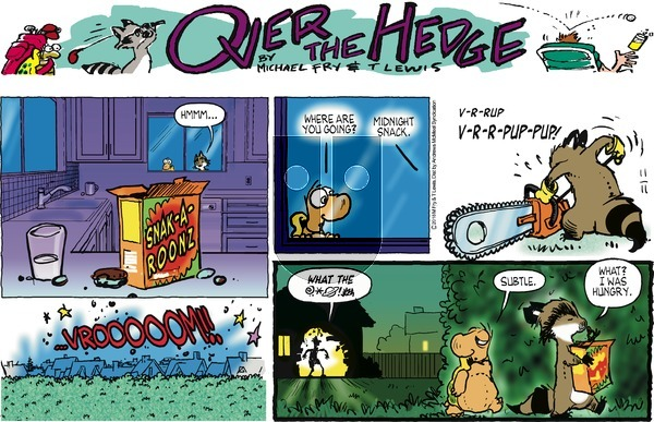 Over the Hedge on November 11, 2018 Comic Strip