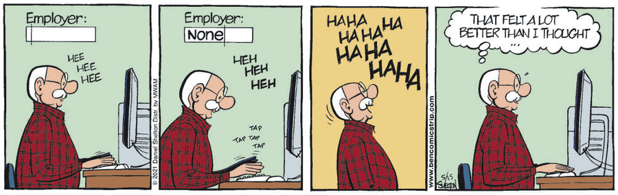 Ben Comic Strip for May 15, 2021