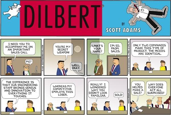 Dilbert - Sunday April 9, 2006 Comic Strip