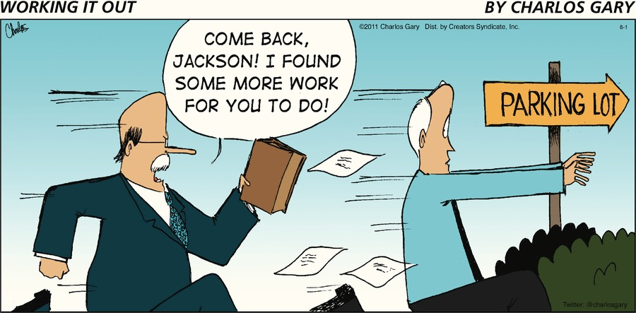 Working It Out Comic Strip for August 01, 2021