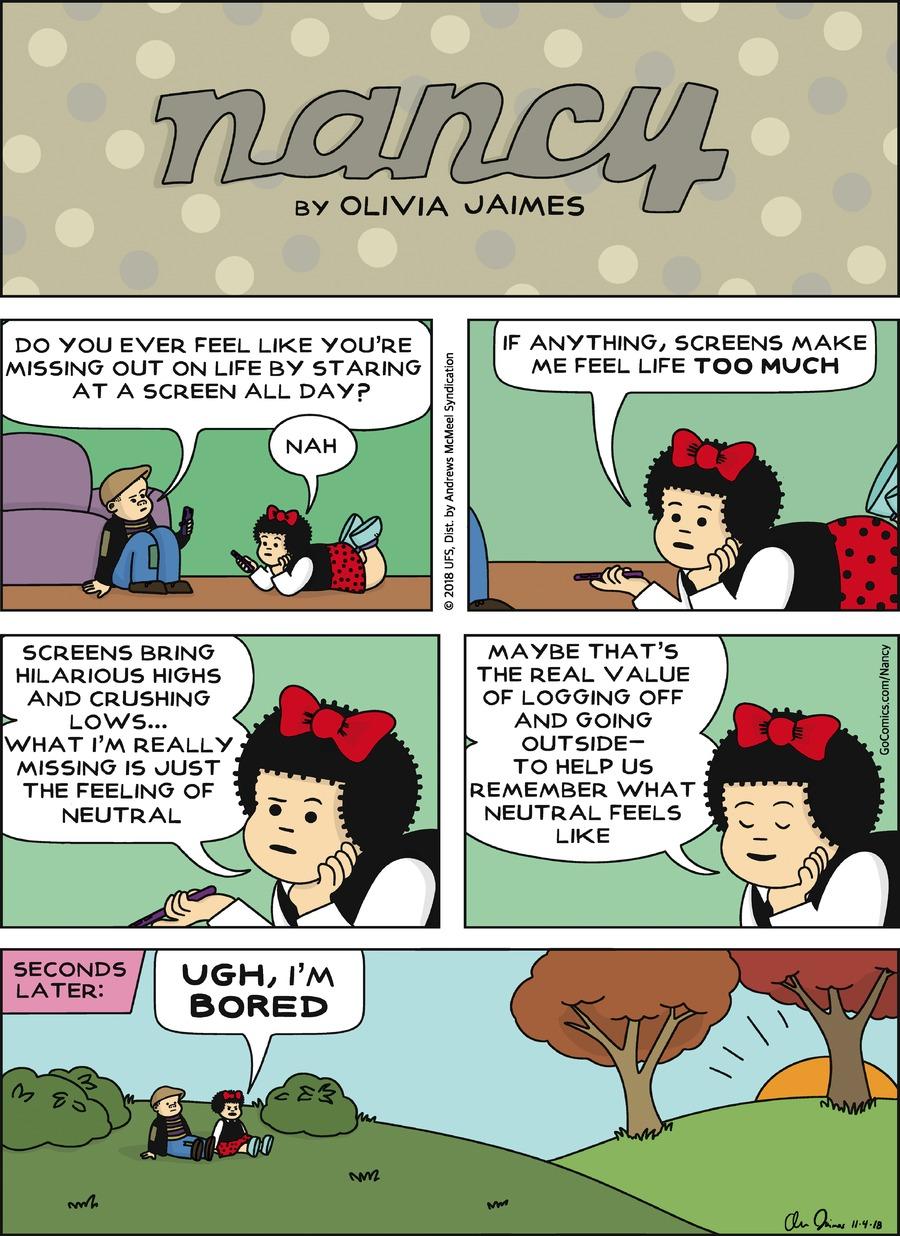 Nancy Comic Strip for November 04, 2018