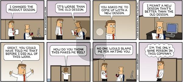 Dilbert on Sunday September 23, 2007 Comic Strip
