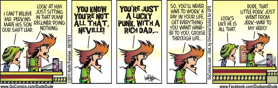 Dude and Dude for Jun 19, 2013 Comic Strip