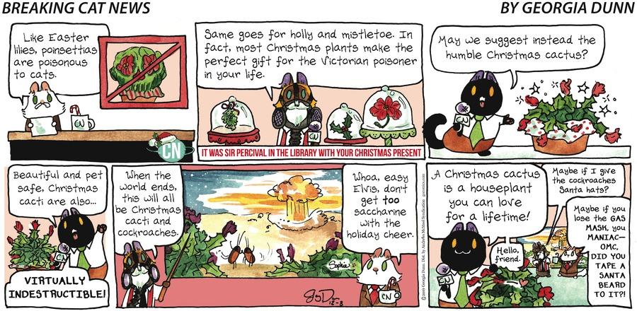 Breaking Cat News Comic Strip for December 08, 2019