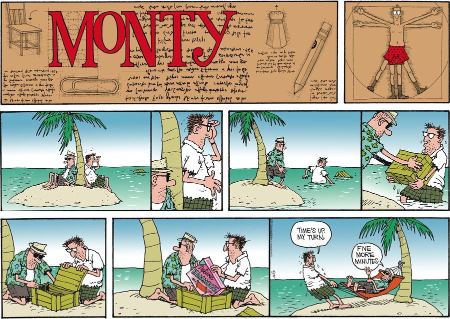 Monty Comic Strip for October 04, 2015