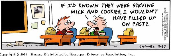 Frank and Ernest Comic Strip for November 29, 2001
