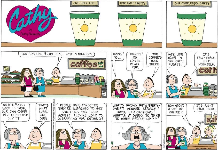 Cathy for Aug 4, 2002 Comic Strip