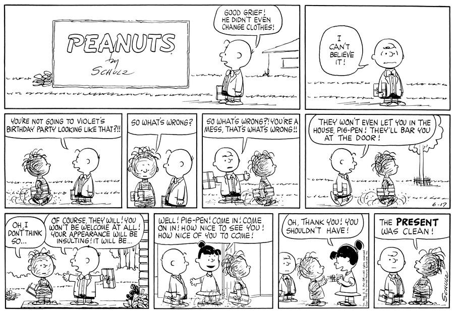 Peanuts Comic Strip for June 17, 1962