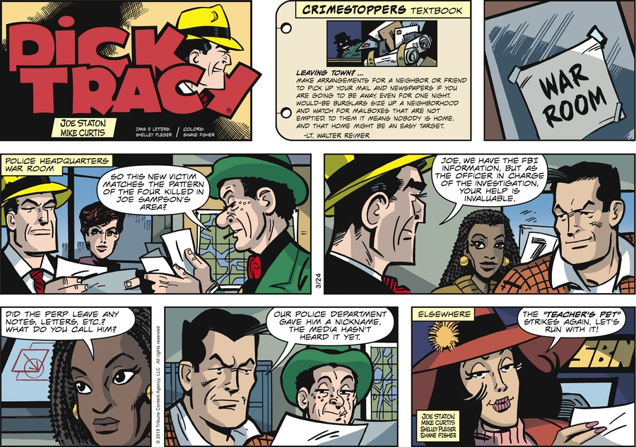 Dick Tracy by Joe Staton and Mike Curtis for March 24, 2019