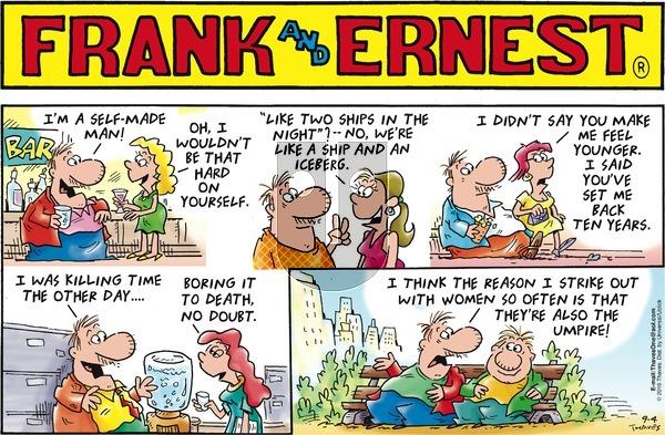 Frank and Ernest on Sunday September 4, 2016 Comic Strip