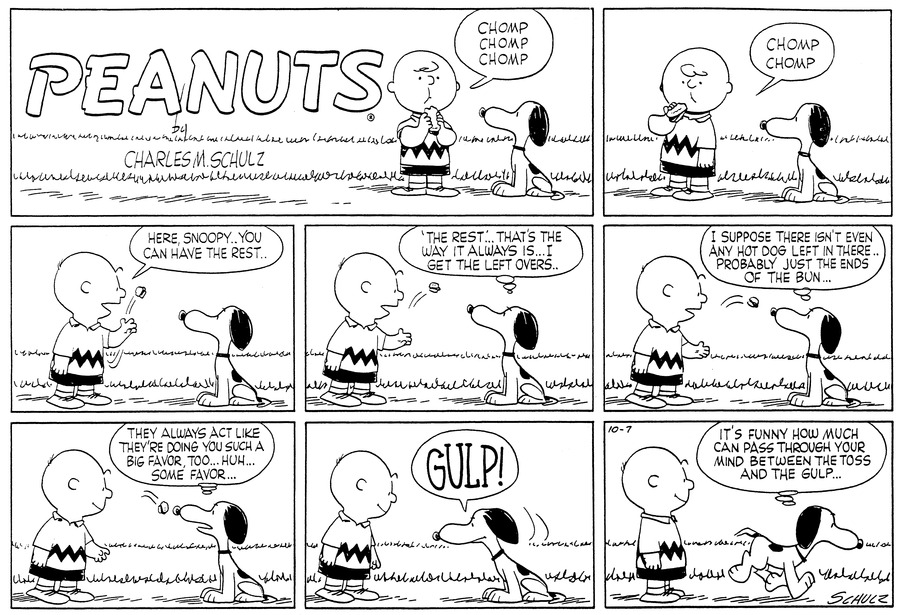 Peanuts Comic Strip for October 07, 1956