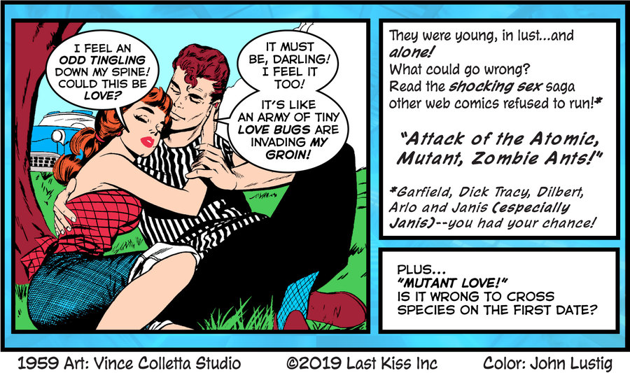 Last Kiss Comic Strip for July 12, 2019