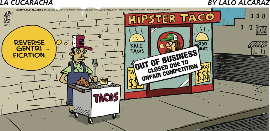 La Cucaracha Comic Strip for April 13, 2014